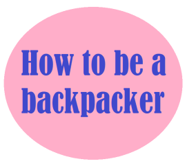 how to be a backapcker