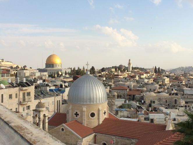 Blick vom österreichischen Hospiz über Jerusalem
